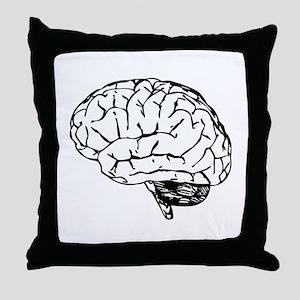 Brain Throw Pillow