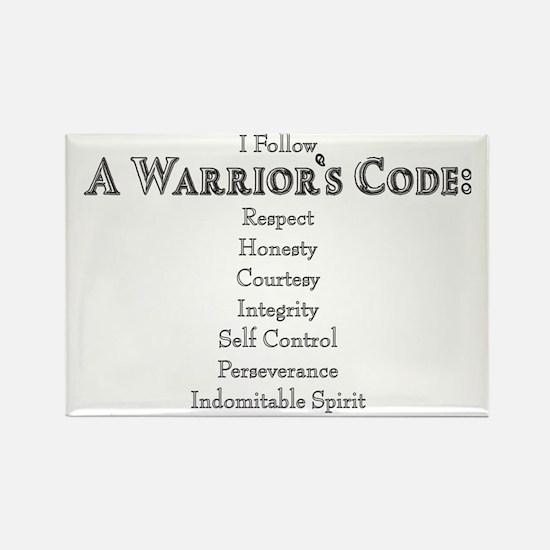 A Warriors Code Rectangle Magnet