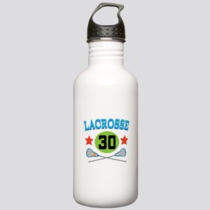 Lacrosse Player Number 30 Stainless Water Bottle 1
