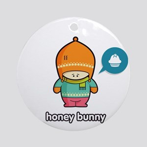 Honey Bunny ORA-PNK Round Ornament