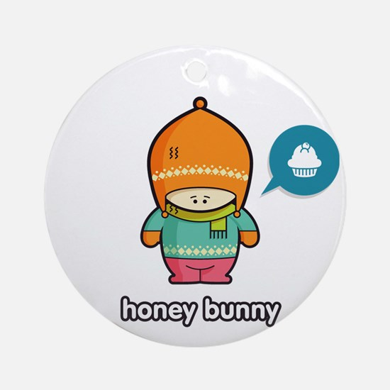Honey Bunny ORA-PNK Round Ornament