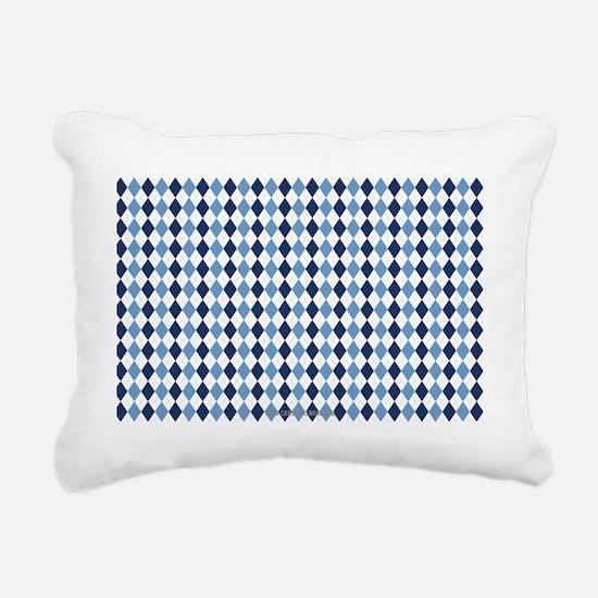 UNC Argyle Carolina Blue Rectangular Canvas Pillow