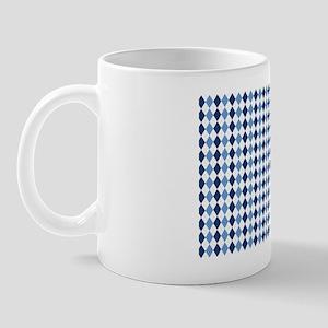 UNC Argyle Carolina Blue Tarheel Mug