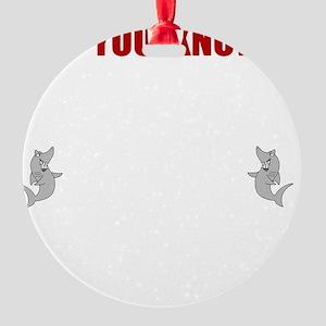 Sharks Cuddle Round Ornament