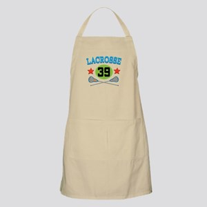Lacrosse Player Number 39 Apron