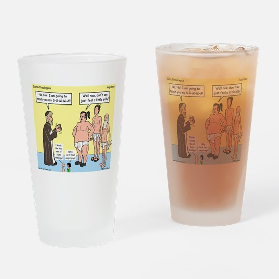 Sumo Theologica Drinking Glass