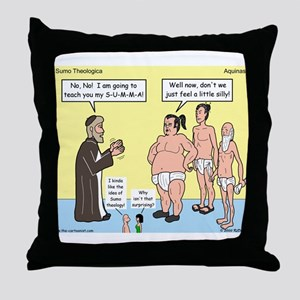 Sumo Theologica Throw Pillow