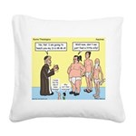Sumo Theologica Square Canvas Pillow