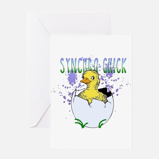 Synchro Chick Greeting Cards