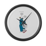 Barths Vacuum Large Wall Clock