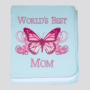 World's Best Mom (Butterfly) baby blanket