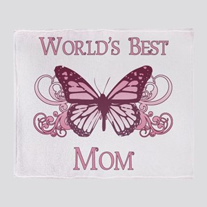 World's Best Mom (Butterfly) Throw Blanket