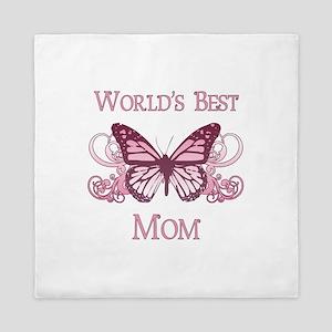 World's Best Mom (Butterfly) Queen Duvet