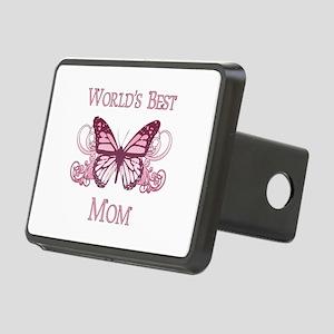 World's Best Mom (Butterfly) Rectangular Hitch Cov