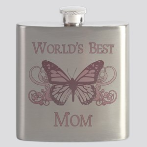 World's Best Mom (Butterfly) Flask