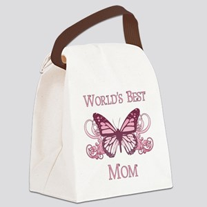 World's Best Mom (Butterfly) Canvas Lunch Bag