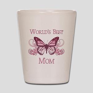 World's Best Mom (Butterfly) Shot Glass