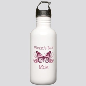 World's Best Mom (Butterfly) Stainless Water Bottl