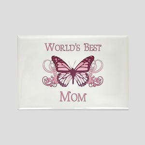 World's Best Mom (Butterfly) Rectangle Magnet