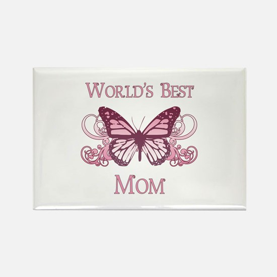 World's Best Mom (Butterfly) Rectangle Magnet (100