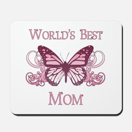 World's Best Mom (Butterfly) Mousepad