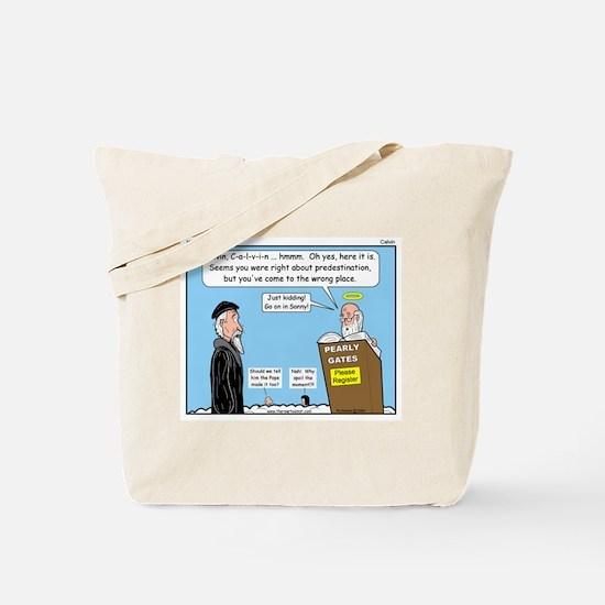 Calvin and Predestination Tote Bag