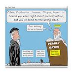 Calvin and Predestination Tile Coaster