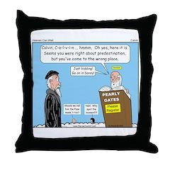 Calvin and Predestination Throw Pillow