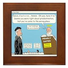 Calvin and Predestination Framed Tile