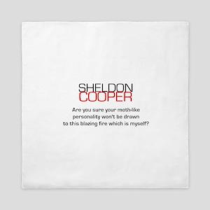 Sheldon Cooper's Personality Quote Queen Duvet