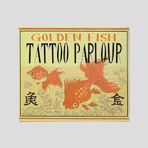 golden fish Throw Blanket