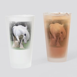 All Whites stallions Drinking Glass