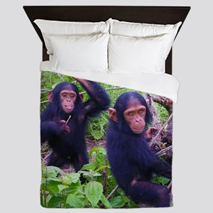 Two Chimps Playing Queen Duvet