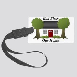 God Bless Our Home Large Luggage Tag
