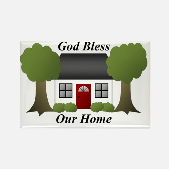 God Bless Our Home Rectangle Magnet