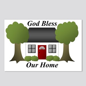 God Bless Our Home Postcards (Package of 8)