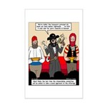 Offering Pirates Mini Poster Print