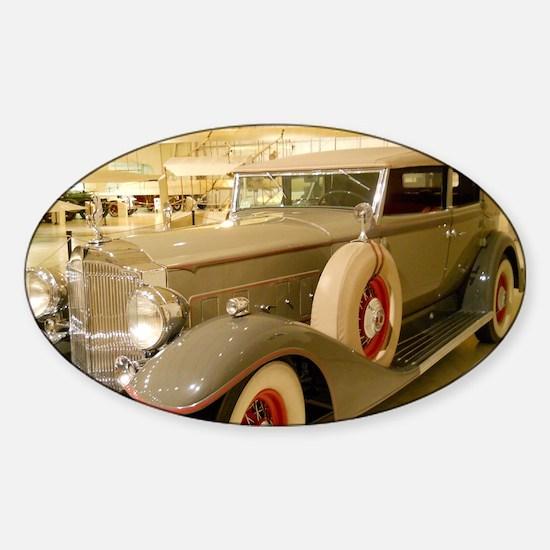 1933 Packard Sedan Sticker (Oval)