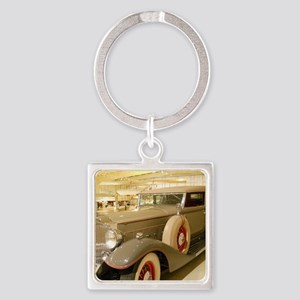 1933 Packard Sedan Square Keychain