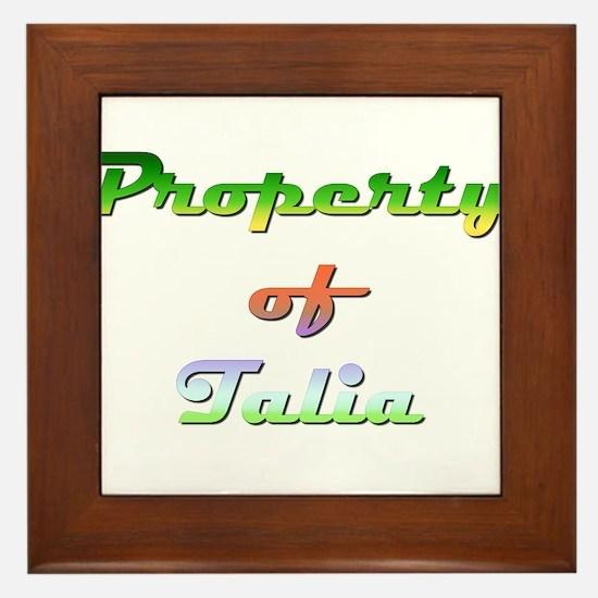 Property Of Talia Female Framed Tile