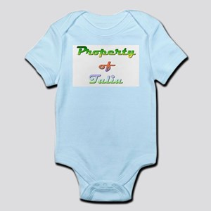 Property Of Talia Female Baby Light Bodysuit