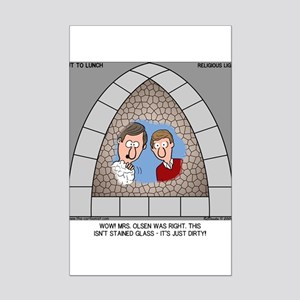 Stained Glass Window Mini Poster Print