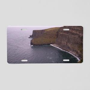 Cliffs in Ireland Aluminum License Plate