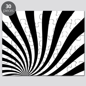 Black White Twist Stripes Puzzle