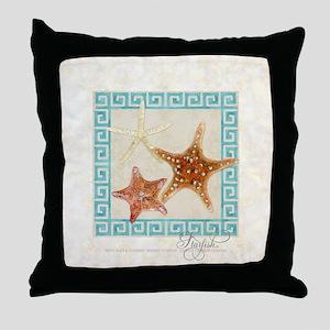 Starfish Sea Shells Seashells, Greek  Throw Pillow