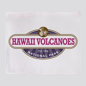 Hawaii Volcanoes National Park Throw Blanket