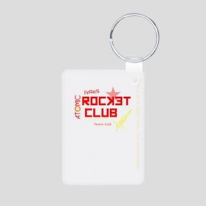 Ivans Atomic Rocket Club B Aluminum Photo Keychain