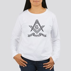 Square and Compass Women's Long Sleeve T-Shirt