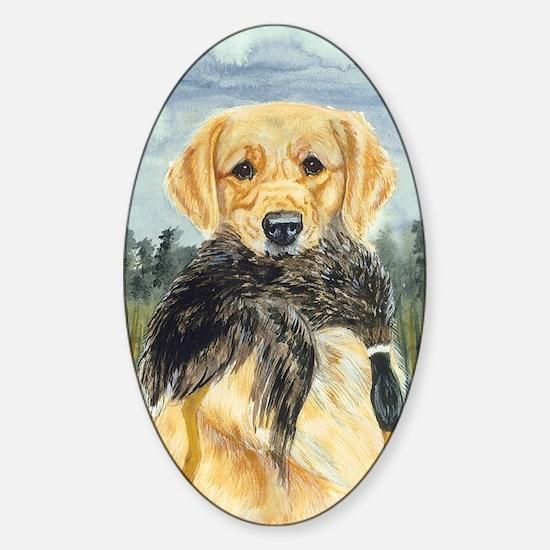 golden hunter Sticker (Oval)