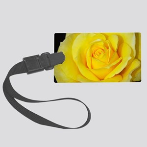 Beautiful single yellow rose Large Luggage Tag